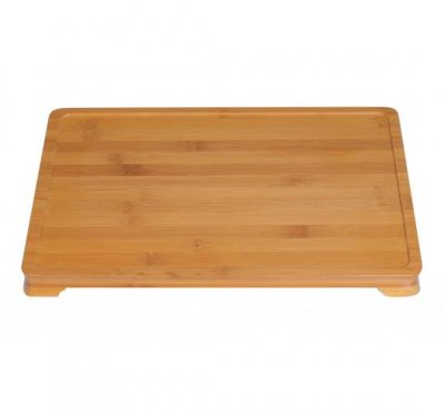 Welcome tray i naturbambu, bottenbricka